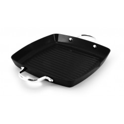 Ecopan BBQ  28 x 28cm Square Grill with 2 Handles Black