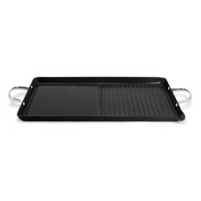 Ecopan BBQ  46 x 25cm Double Burner Grill/Griddle Black