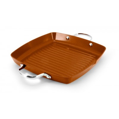 Ecopan BBQ  28 x 28cm Square Grill with 2 Handles Bronze
