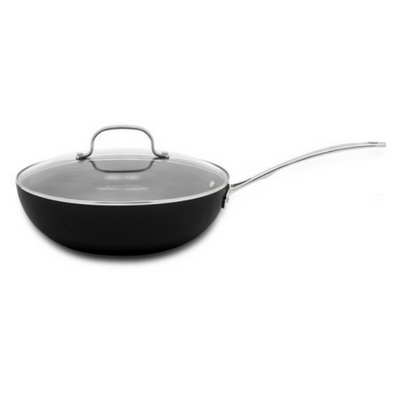 Ecopan Delight 28cm Covered Stirfry Black