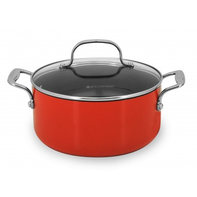 Ecopan Delight 22cm Casserole Red