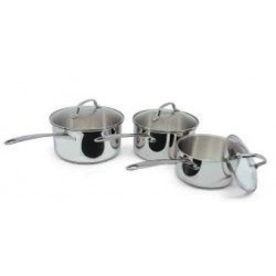 Tivoli Danica Set of 3 Saucepan with Lid